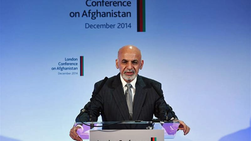 The London conference was President Ghani's first meeting in his current guise with the world community [Reuters]