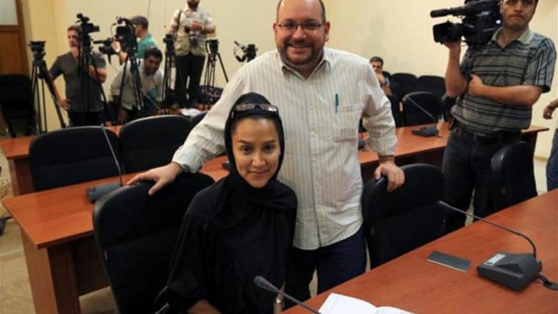 Jason Rezaian was arrested with his wife Yeganeh Salehi in October but the later was released on bail in July [EPA]