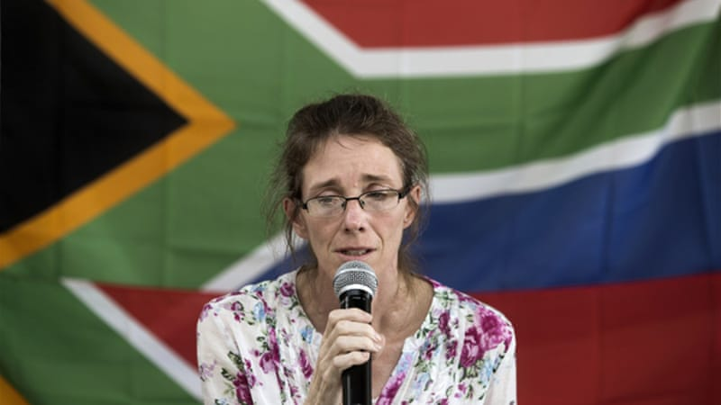 Yolandi, wife of Pierre Korkie, was initially also held captive with her husband until January 2014 [AFP]