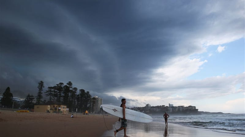 10,000 homes in the west of Sydney were left without power as a severe thunderstorm caused chaos [AFP]