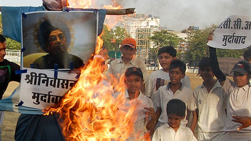 The betting scandal had triggered street protests against Srinivasan across India [EPA]