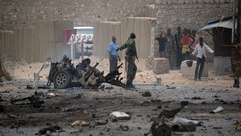 Seven people were killed and many wounded in a car bomb attack close to the entrance of Mogadishu's airport [AFP]