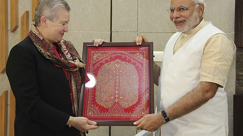 Powell's meeting with BJP leader Narendra Modi was seen as a positive move for both countries [Reuters]