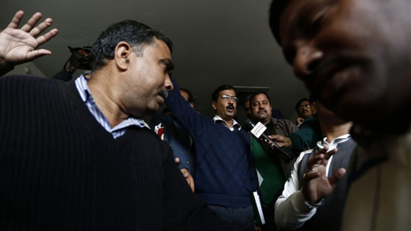 Delhi's Chief Minister Arvind Kejriwal resigned from his post 49 days after winning the elections [Reuters]