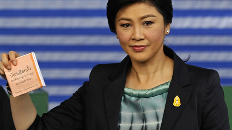 PM Yingluck Shinawatra has been embroiled in accusations of corruption and may be ordered to step down [Reuters]