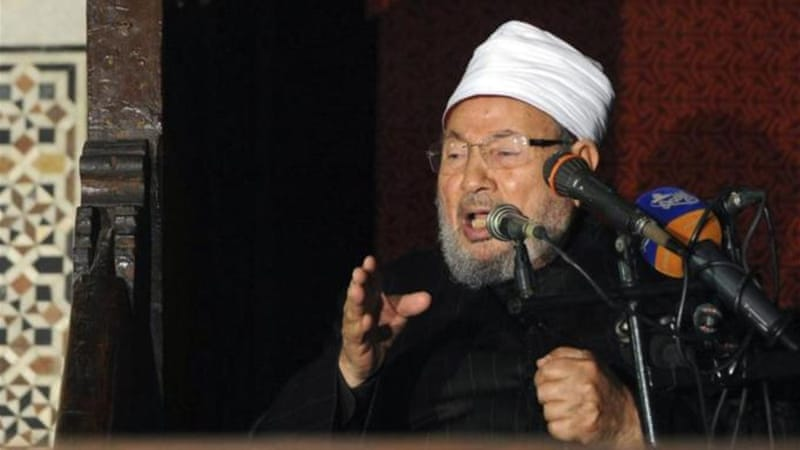 Sunni leader Yusuf al-Qaradawi said the proclaimed caliphate was 'void' according to Islamic law [Reuters]