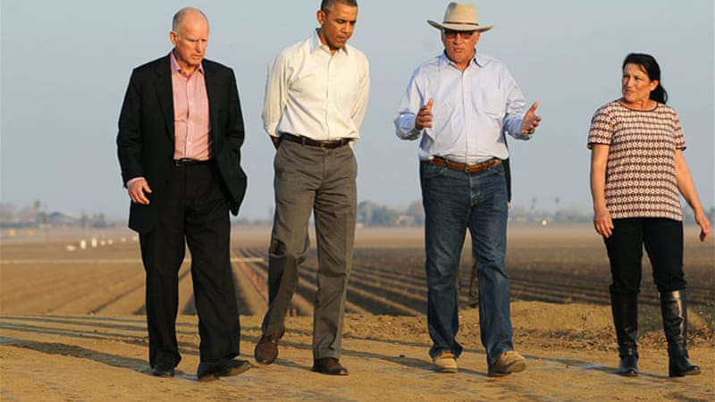 President Barack Obama pledged $160 million in federal assistance to farmers [EPA]