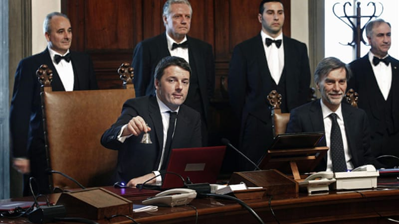 Renzi is still expected to go before the Senate on Monday for the first of two parliamentary confidence votes  [EPA]