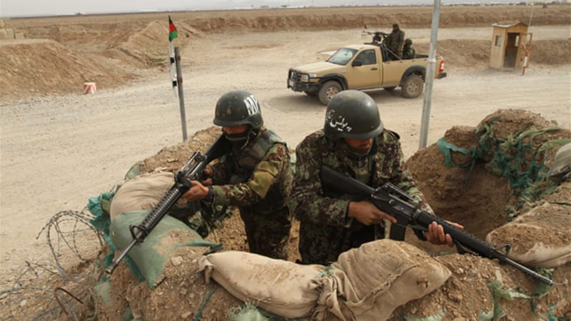 Afghan forces tried to free the soldiers captured by the Taliban but army sources say the fighting has stopped [EPA]