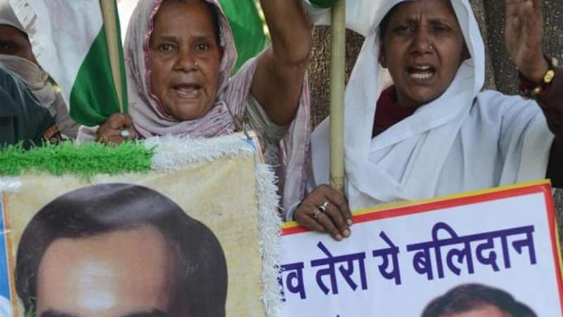 India's top court blocked the release of three of former PM Rajiv Gandhi's killers earlier this month [AFP]