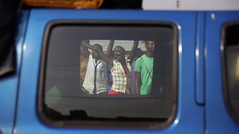The crowds who fled Bangui were jeered and taunted by onlookers [AP]