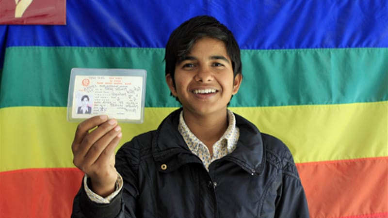 Bishwa is one of the few transgender Nepalis given an ID with the new, 'other' category [Angel L Martinez/Al Jazeera]