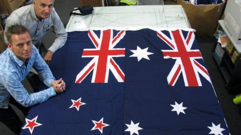 Some argue New Zealand's flag is too similar to Australia's [AP]