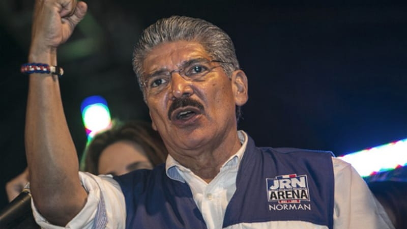 Salvadorean presidential candidate Quijano demands vote-by-vote recount of votes and claims foul play [AFP]