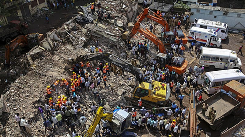 About 33 people were killed in a building collapse in Mumbai in September 2013 [File: EPA]