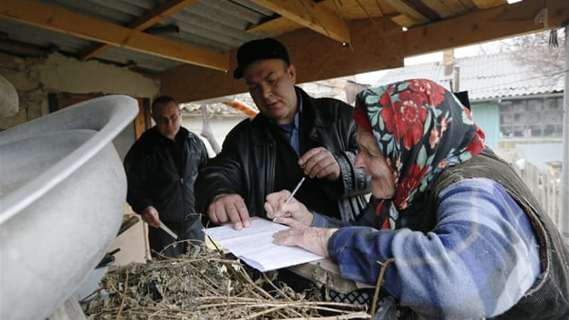Crimean authorities declared a 95.5 percent vote in favour of joining Russia [EPA]