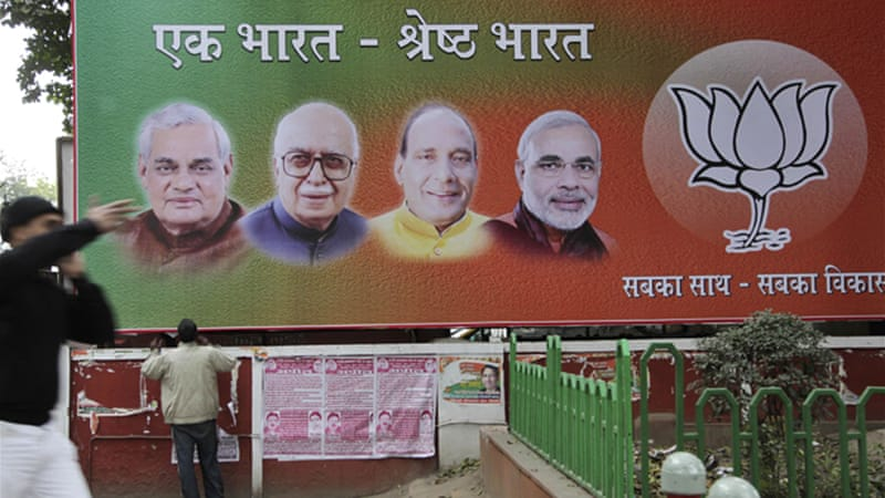 The BJP is seen to be the favourite to form the next government [AP]