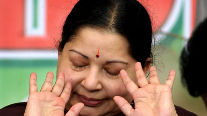 Jayalalitha was freed on medical grounds [AP]