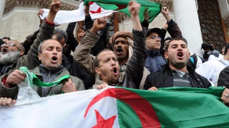 There is growing anger in Algeria over Bouteflika's  decision to seek a fourth term [AFP]
