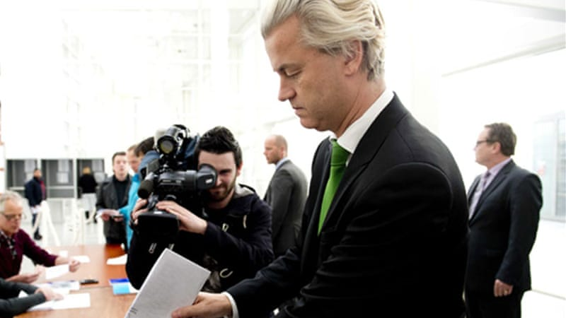 Wilders' PVV came second in The Hague in Wednesday's municipal council elections [EPA]