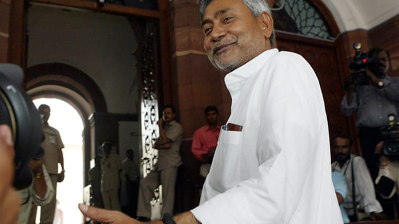 Nitish Kumar resigned from his post as chief minister after his party's poor showing in general election [EPA]