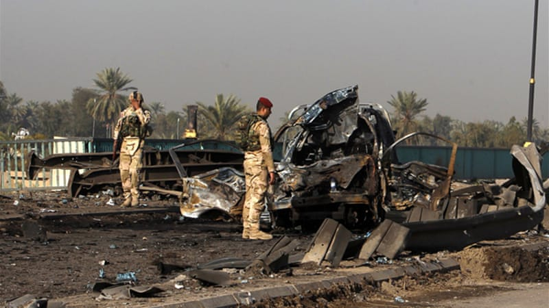 The blasts struck little more than a month before Iraqis hold parliamentary elections [Reuters]