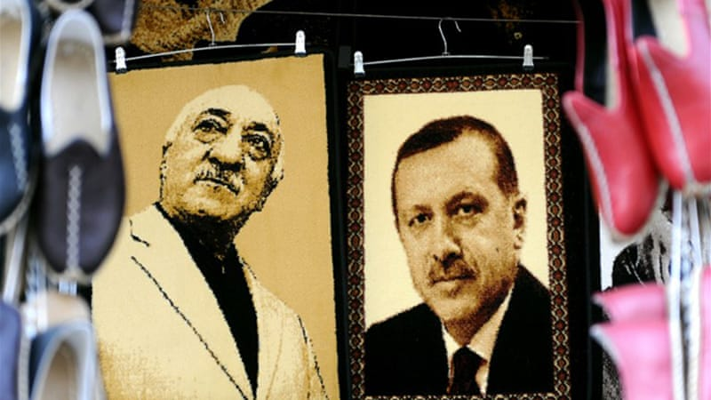"Turkey's leader accuses US-based cleric Fethullah Gulen, of running a parallel ""deep state"" from faraway [AFP]"