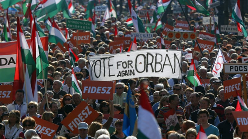 Viktor Orban has a good chance to get re-elected for another four-year term in parliamentary elections [Reuters]
