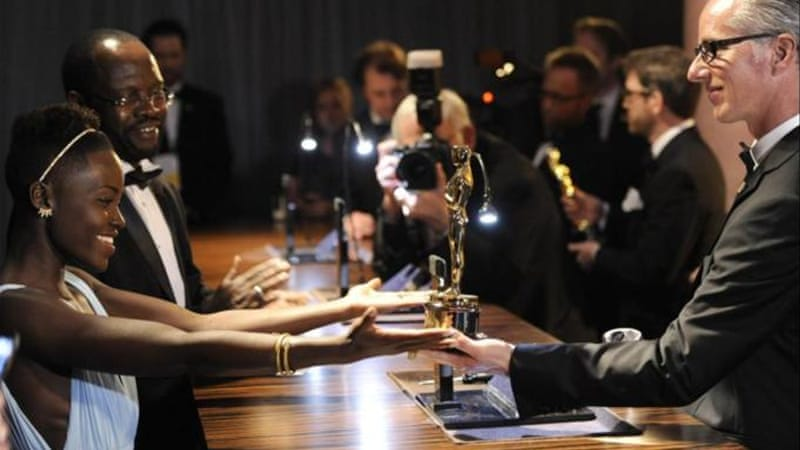 Lupita Nyong'o won the Oscar for Best Actress in a Supporting Role [AP]