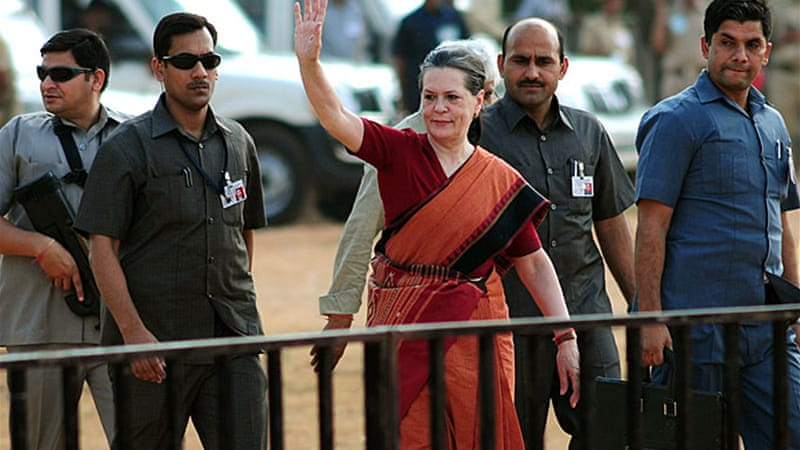Sonia Gandhi, the Congress president, is also the chairperson of the ruling UPA coalition [EPA]