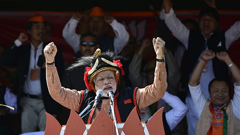 Opinion polls have given BJP's Narendra Modi a clear lead over rivals [EPA]