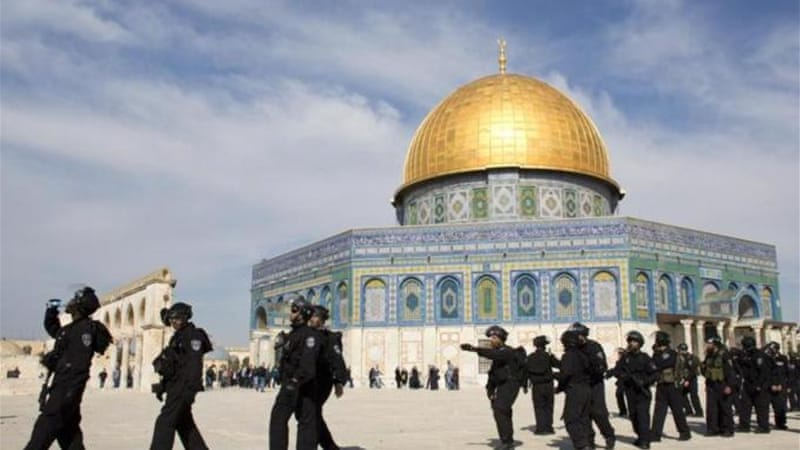 Billions of dollars to fund the Third Temple are set aside and ready to literally blast away the Dome of the Rock and the holy al-Aqsa Mosque, writes Vlazna [AFP]