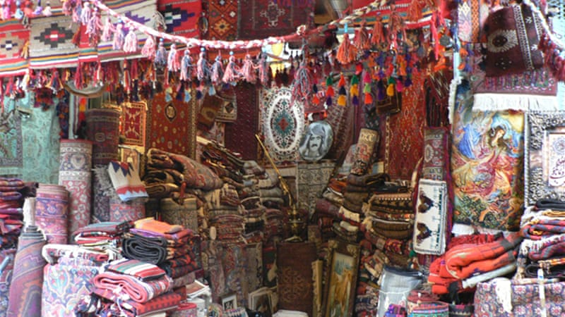 It is getting harder for Iraqi-Kurdish vendors to find stock of genuine Kurdish handicrafts [Lara Fatah/Al Jazeera]