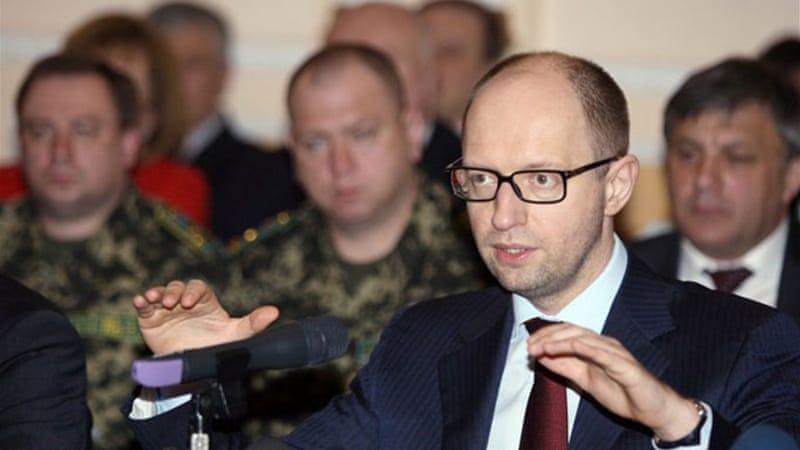 Yatsenyuk has promised greater autonomy in an attempt to maintain unity in Ukraine [AFP]