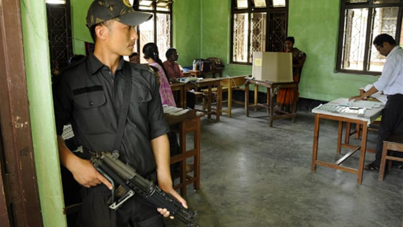 Maoists, fighting to install a communist society, have called on the people to boycott the elections [AFP]
