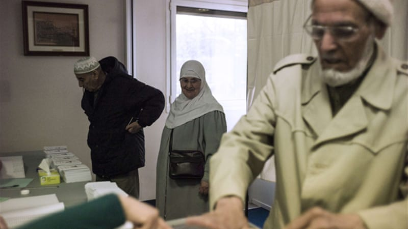 Algerians living abroad have started casting their votes ahead of the April 17 presidential election [AFP]