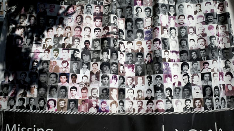 About 200,000 people were killed during the Lebanese civil war and 17,000 others are still missing [AP]