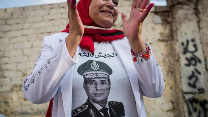 Sisi has gained support from some Egyptians since the military's toppling of former president Mohamed Morsi [AP]