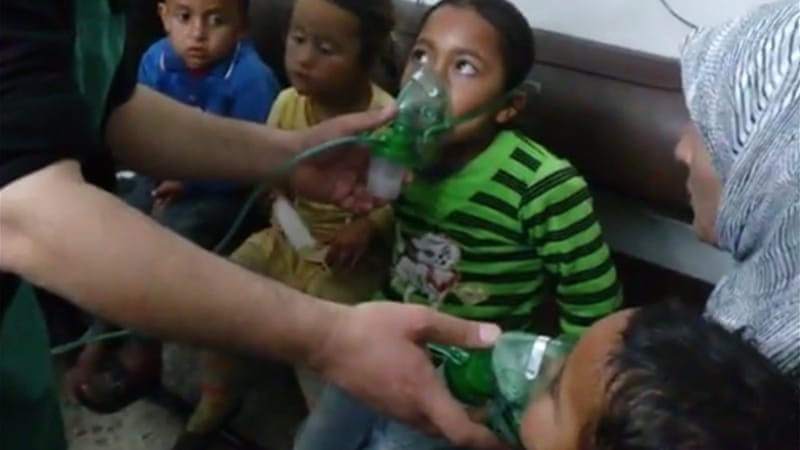 An image from the video shows children being treated [Kafrzita]