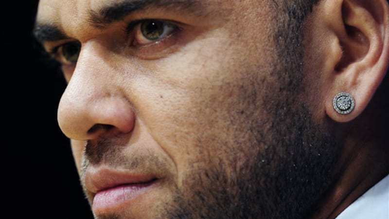 "Dani Alves has often been subjected to racist taunts and called fighting racism ""a lost war"" in January [AP]"