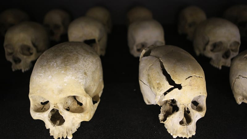Around 800,000 people, mostly Tutsis, were killed in the Rwandan genocide  [Reuters]