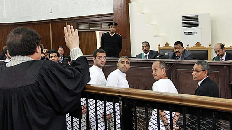 The trial of Baher Mohamed, Peter Greste and Mohammed Fahmy has been adjourned until May 3 [AP]