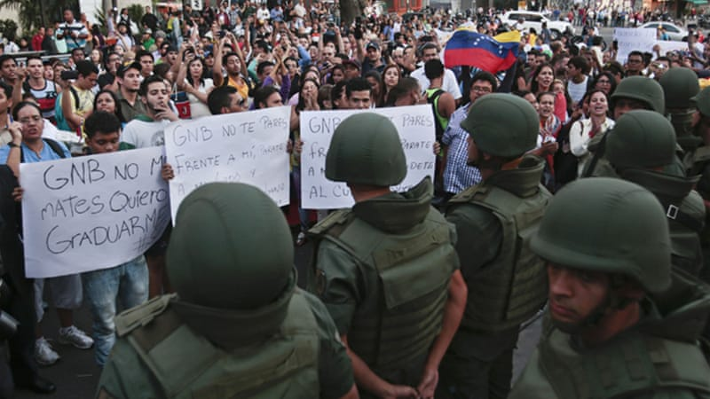 "Maduro has said the protests are a ""fascist"" plot supported by the US [AP]"