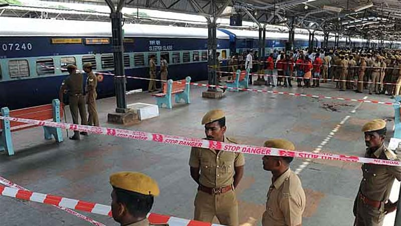 Thursday's blasts in a train in Chennai occurred despite heightened security for elections [AFP]
