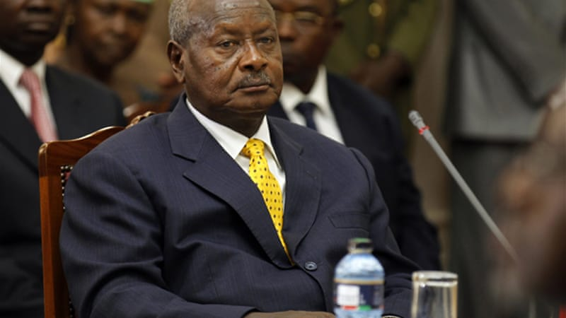 Uganda's Museveni said 'we are happy to see that China is concentrating on the real issues of development' [AFP]