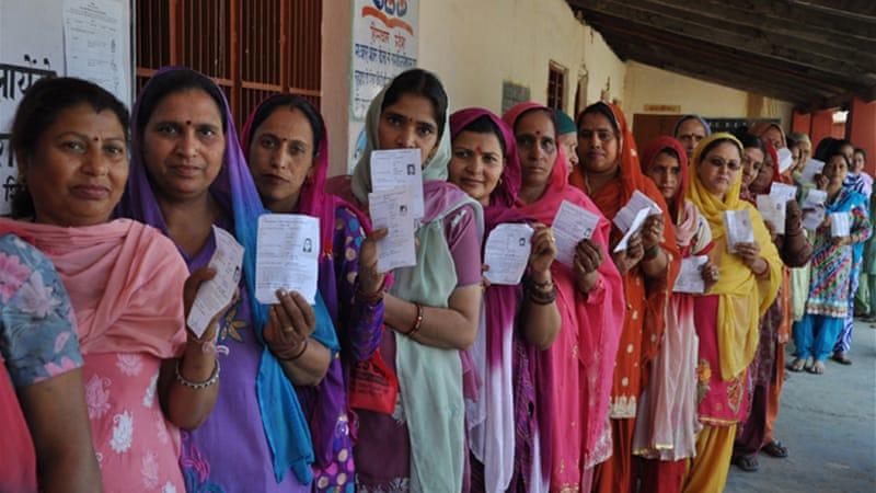 About 551 million people turned out to vote in India's elections [EPA]