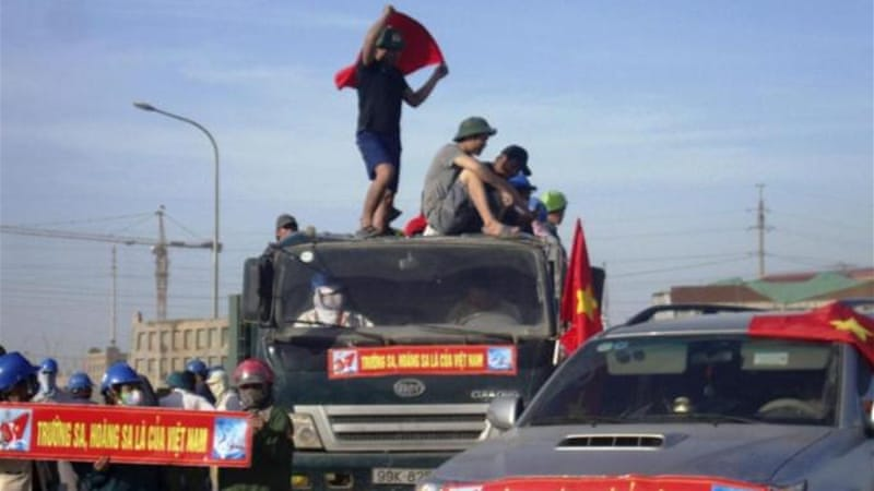 Vietnamese protesters have targeted Chinese nationals and buildings [EPA]