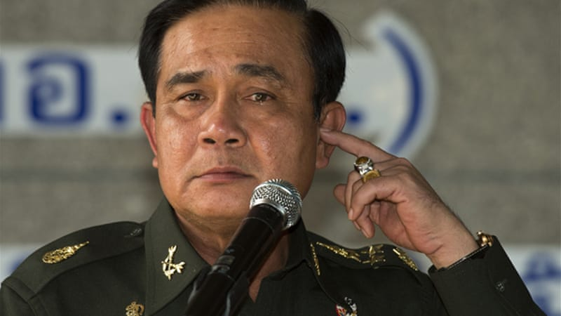 General Prayut Chan-Ocha has declared martial law, giving the army expansive powers [AFP]