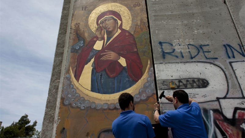 A poll showed that a majority of Palestinian Christians identified the occupation as their greatest challenge [AP]