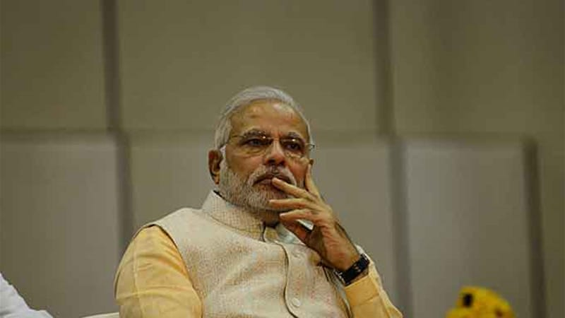 Modi is due to be sworn in as India's prime minister on Monday at a ceremony in New Delhi [AFP]
